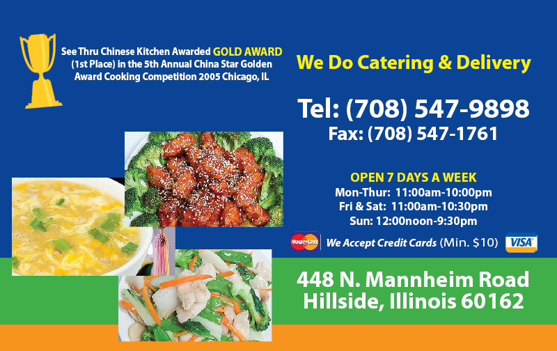 Hillside Kitchen Chinese Menu